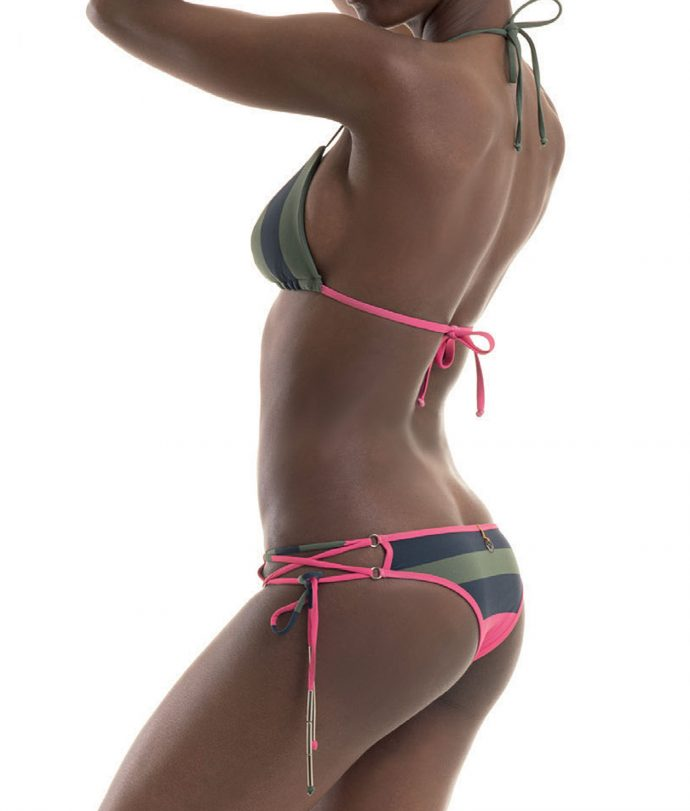 nadia guidi strings green bikini